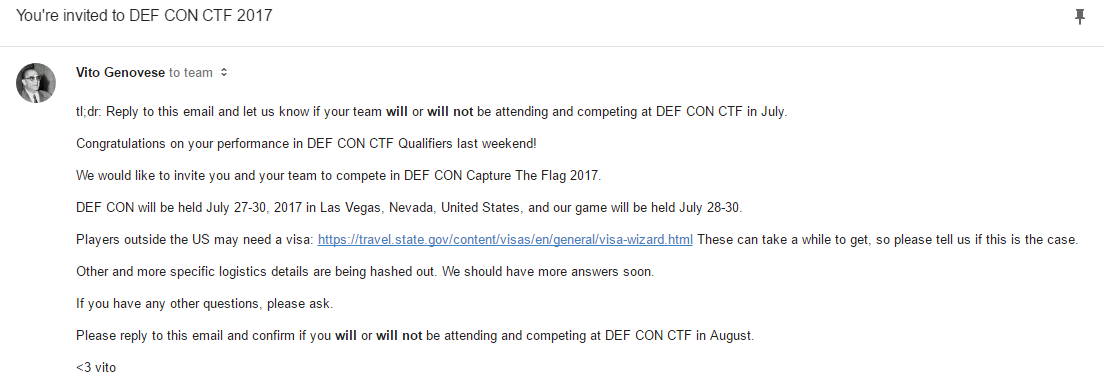DEF CON CTF Qualifier 2017 | Tack, Hunt, Pool